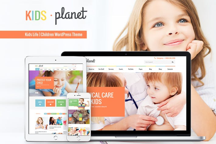 Thumbnail for Kids Planet - Ein Mehrzweck Kinder WP Thema