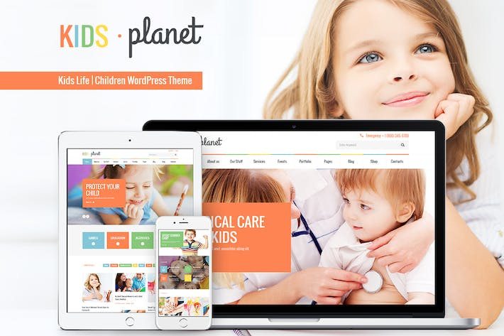 Thumbnail for Kids Planet - A Multipurpose Children WP Theme