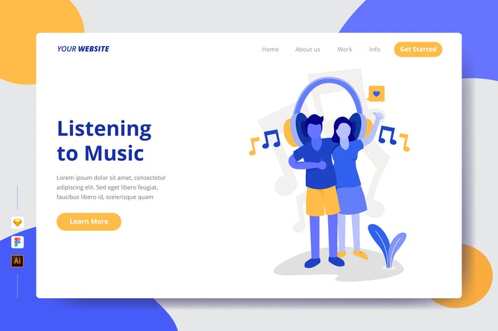 Thumbnail for Listening to Music - Landing Page