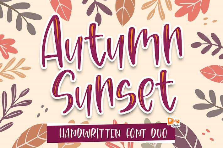 Thumbnail for Autumn Sunset - Handwritten Font Duo