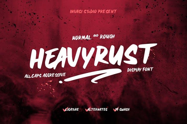 Heavyrust | Display Font