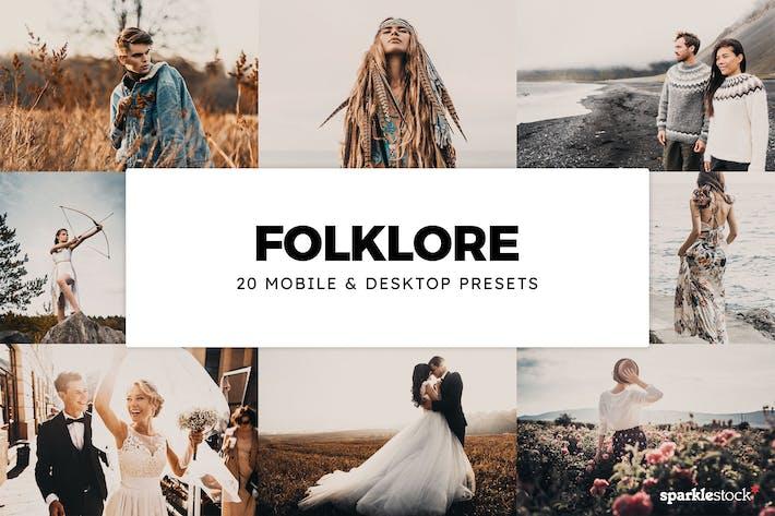 Thumbnail for 20 Folklore Lightroom Presets & LUTs