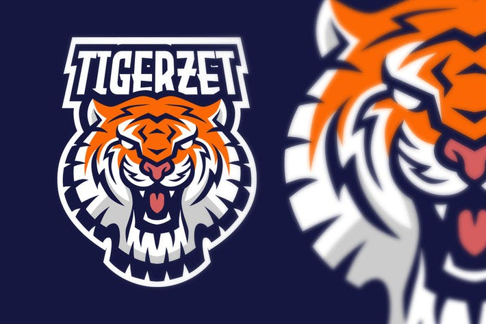 Thumbnail for Tiger Sport Esport Logo Illustration