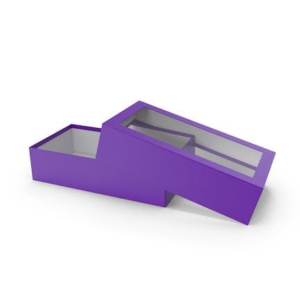 Caja abierta púrpura