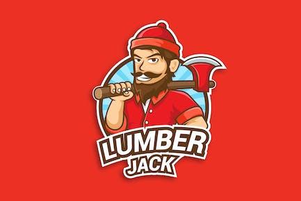 Professional Lumberjack Occupation Logo Vector