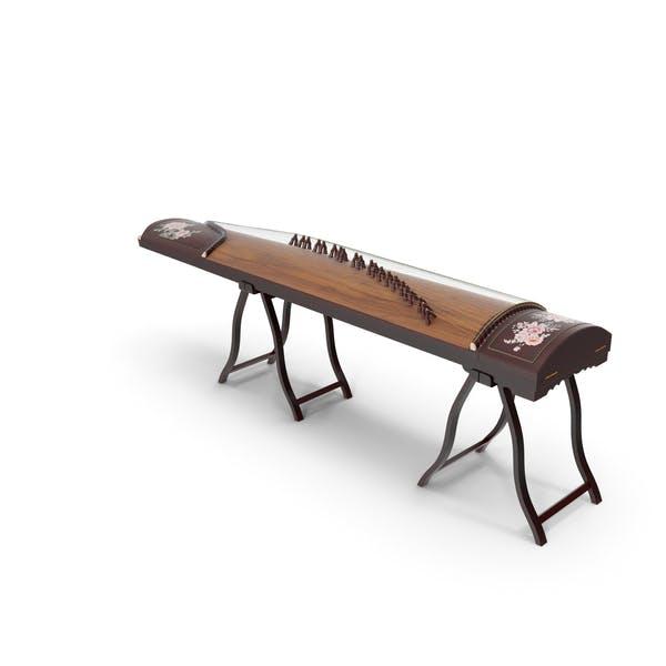 Guzheng - Instrumento de cuerda (cítara china)