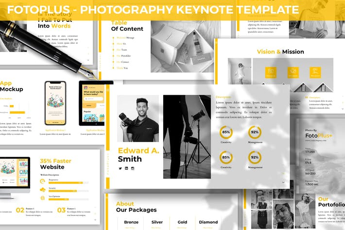 Thumbnail for Fotoplus - Photography Keynote Template