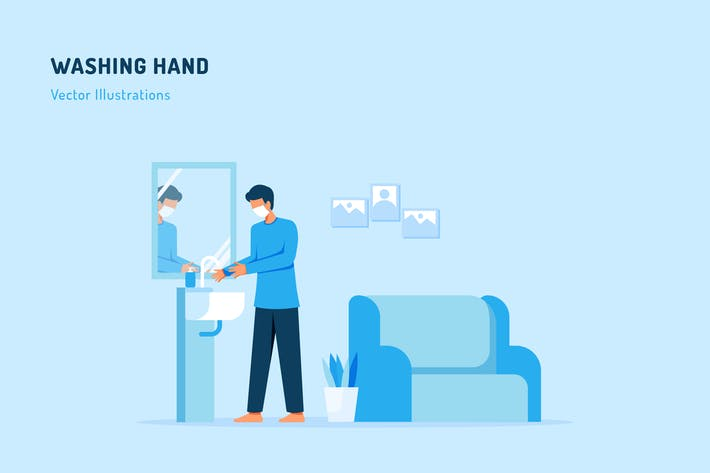 Thumbnail for Washing hand Vector Illustration