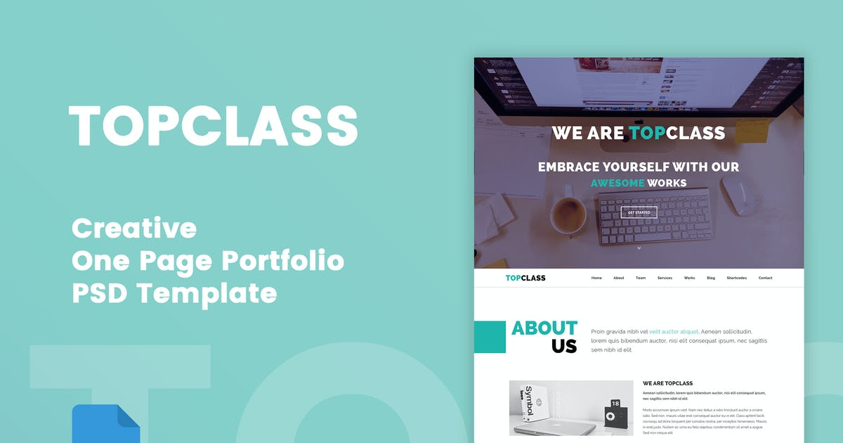 Download TOPCLASS - One Page Creative PSD Template by Unknow