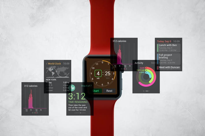 Thumbnail for Apple Watch Mockup V.3