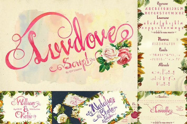 Thumbnail for Luvdove Beautiful Script Font
