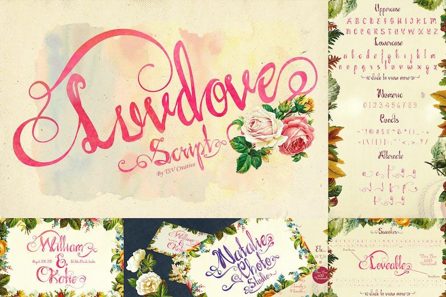 Luvdove Beautiful Script Font