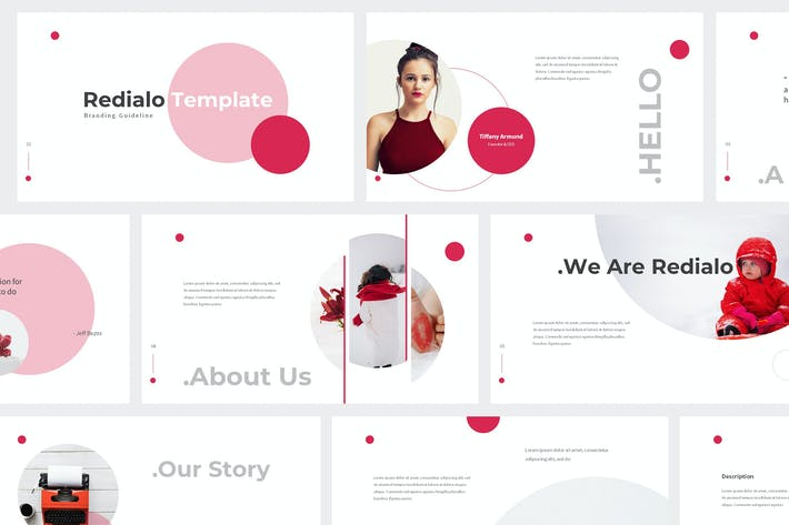 Cover Image For Redialo - Branding Guideline Powerpoint Template