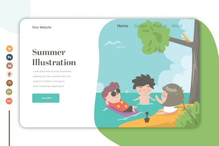 Summer vol.2 - Landing Page Template