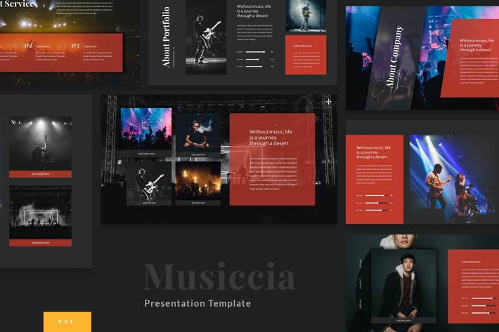 Thumbnail for Musiccia - Music Performance Google Slides