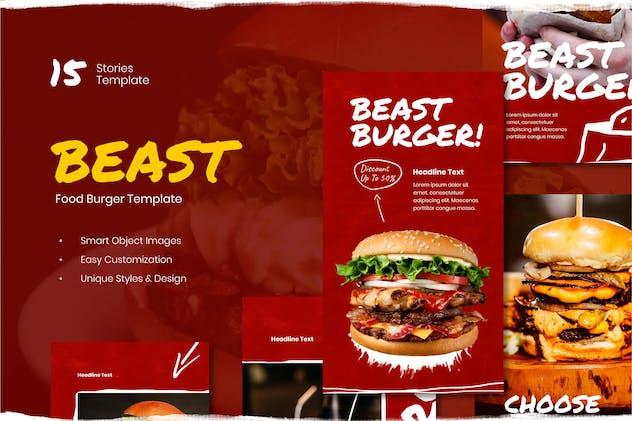 Burger Instagram Stories Template