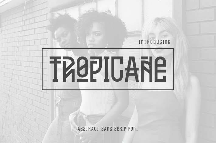 Thumbnail for Tropicane Typeface