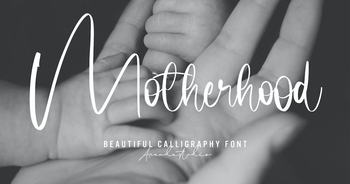 Download Motherhood - Calligraphy Font by arendxstudio