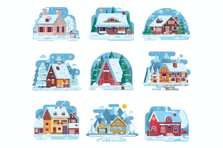 Thumbnail for Winter Houses and Cabins Collection