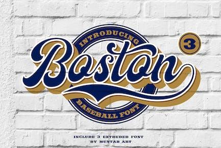 Boston   Baseball Script font