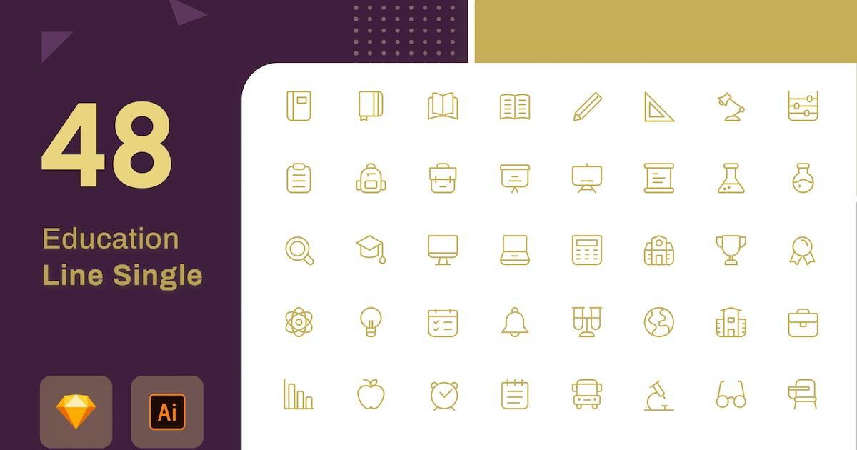 Download Education Icon Line Black by sudutlancip