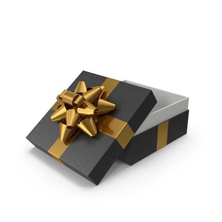 Geschenkbox geöffnet Schwarz Gold