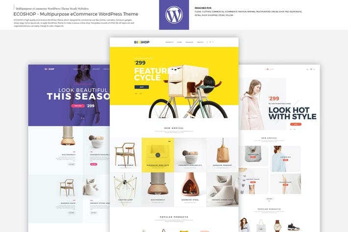 Thumbnail for ECOSHOP - Mehrzweck-eCommerce WordPress Thema