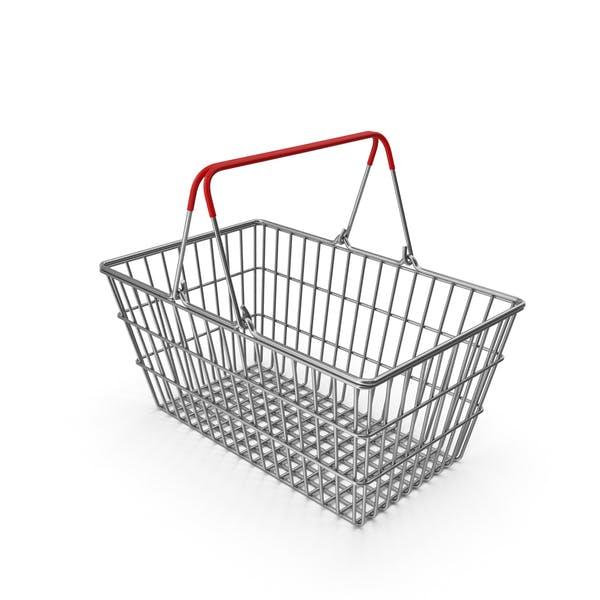 Supermarket Basket with Red Plastic