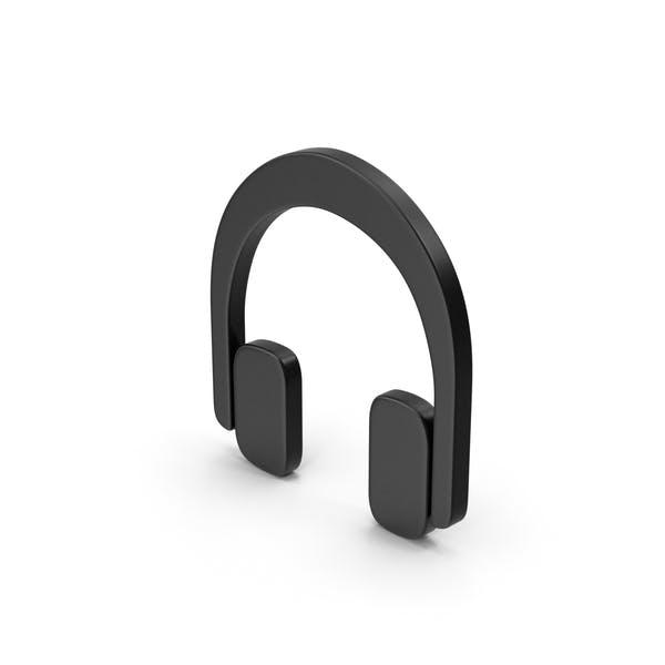 Symbolschwarze Kopfhörer