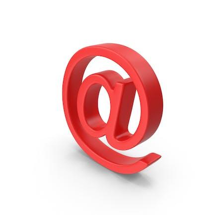 Símbolo rojo en el símbolo