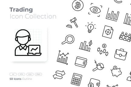 Trading Outline Icon