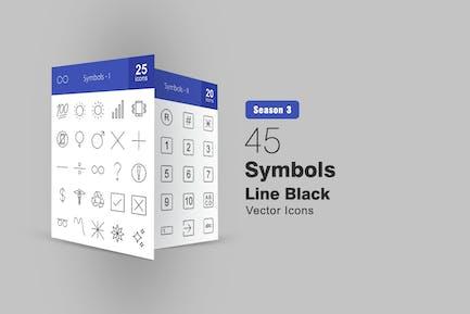 45 Symbole Linie Icons