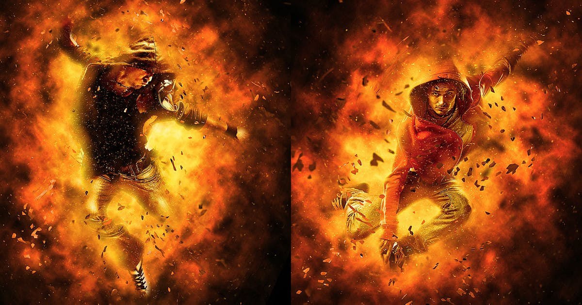 Download Burn Photoshop Action by UnicDesign