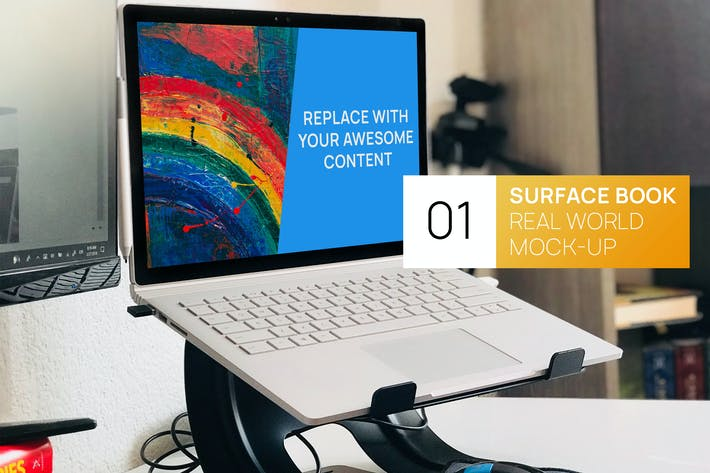Thumbnail for PC Surface Book Workplace Real World Mock-up