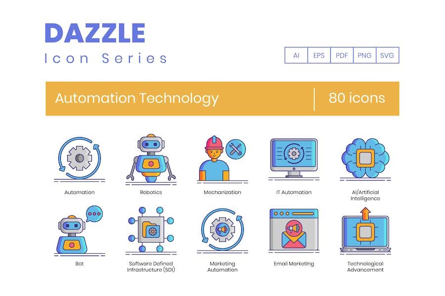 80 Icons für Automatisierungstechnik - Dazzle Series