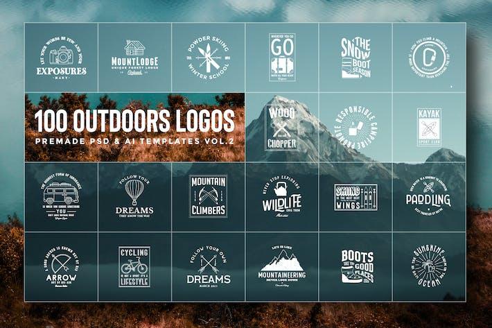 100 Logos et illustrations des aventuriers en plein air