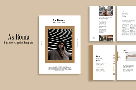 Business Magazine As Roma Template - LS