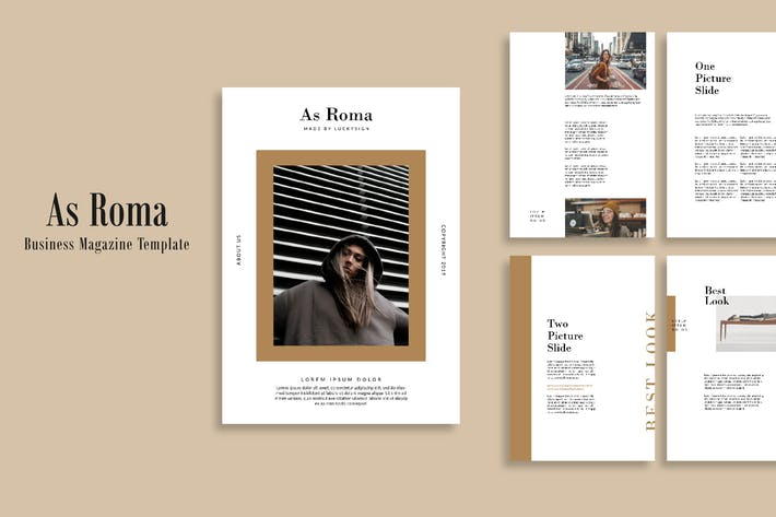 Cover Image For Business Magazine As Roma Template - LS