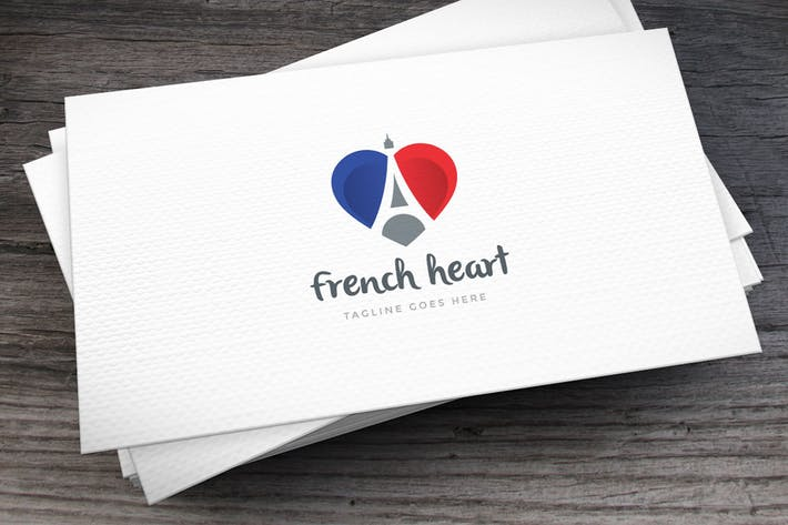 Thumbnail for French Heart Letter A Logo Template