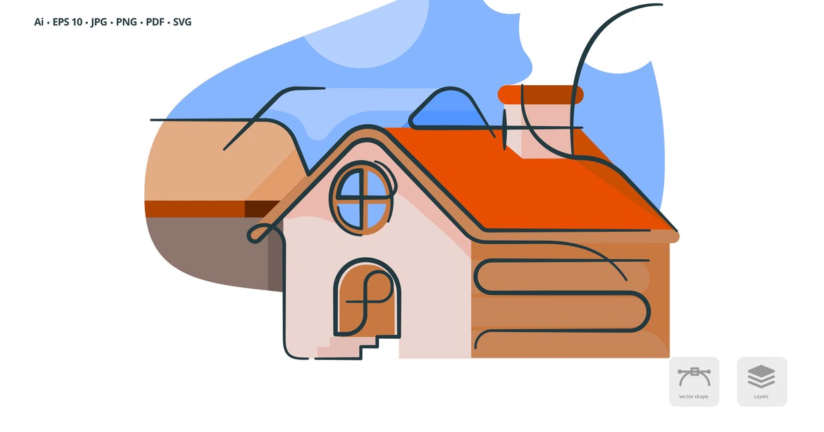 Download Farm House Real Estate Vector Illustration by roundicons