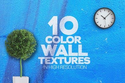 Farbige Wandtexturen x10