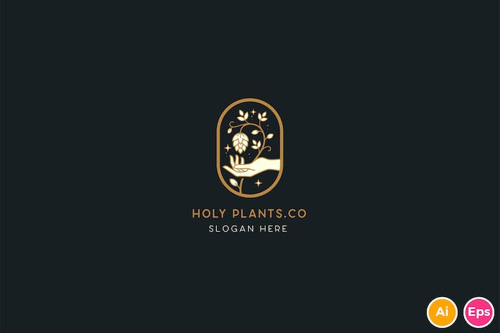 Thumbnail for Holy plants Brewery Logo Template