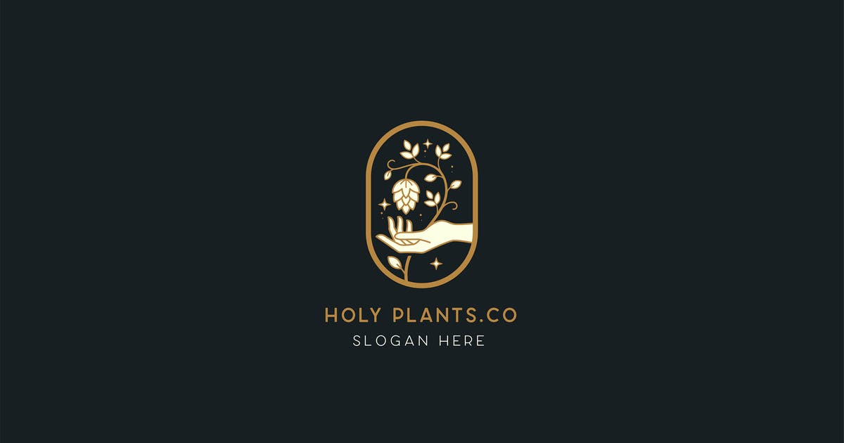 Download Holy plants Brewery Logo Template by NEWFLIX