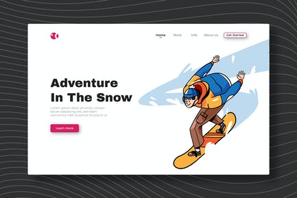 Adventure In The Snow - Landing Page