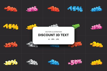 Discount Text Sale With Numbers