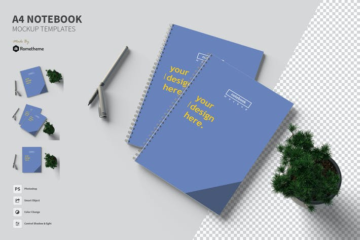 Thumbnail for A4 Notizbuch - Mockup FH