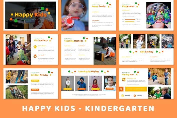 Thumbnail for Happy Kids - Kindergarten (Powerpoint)