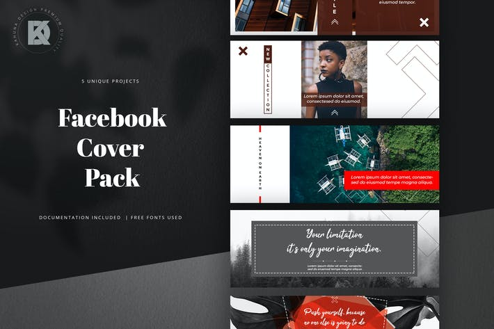Thumbnail for Minimal Facebook Cover Pack
