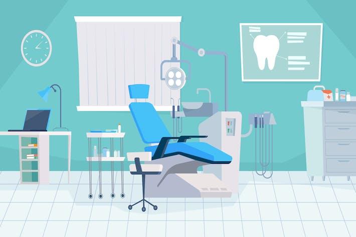 Thumbnail for Dentist's Office - Illustration Background