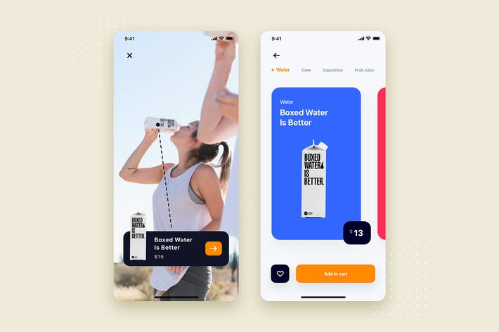 Thumbnail for Boxed Water Store Mobile App UI Kit Template